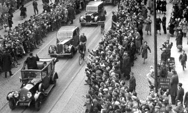 Winston Churchill received the Freedom of Aberdeen in 1946.