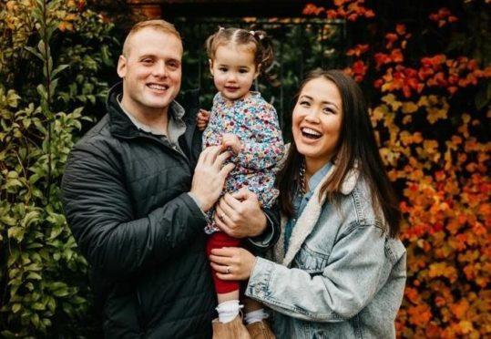 Karina Harper, daughter Yana and husband Duncan.