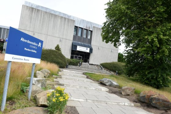 Aberdeenshire Council has been nominated for an award for its planning efforts during the pandemic.