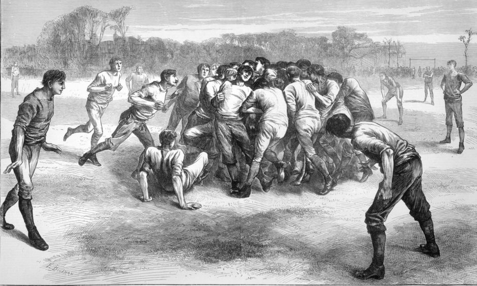 Rugby was an altogether different affair back in 1871.