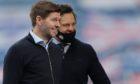 Rangers manager Steven Gerrard smiles after his side's match against St Mirren.