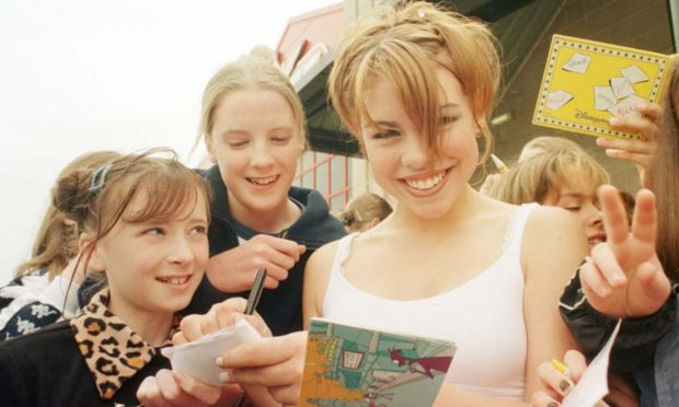 Who's that girl? Years before she starred in Doctor Who, Billie Piper was a top pop star who entertained an audience of young fans at Amadeus in 1998. PIcture by Donald Stewart.