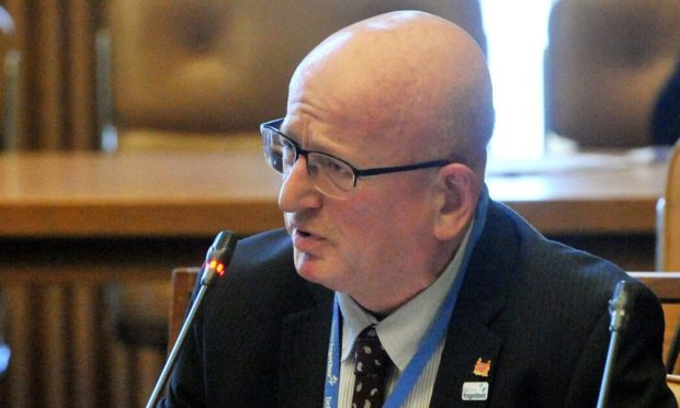 Alan Donnelly at a Town House meeting in 2014.