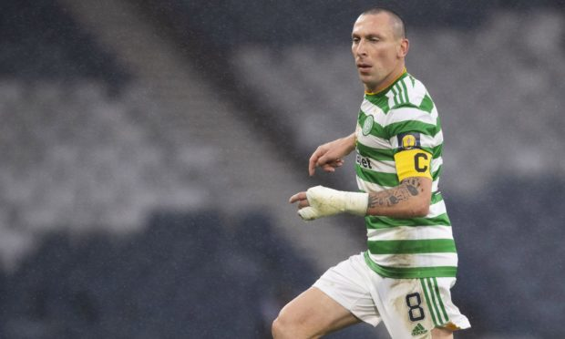 Scott Brown in action for Celtic.