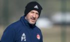 Interim manager Paul Sheerin during Aberdeen training at Cormack Park,