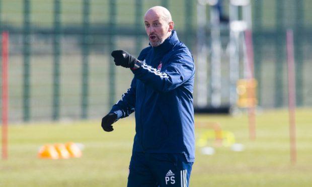 Interim Aberdeen manager Paul Sheerin at Cormack Park.
