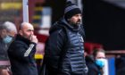 Cove manager Paul Hartley during the Scottish League One match with Partick Thistle.