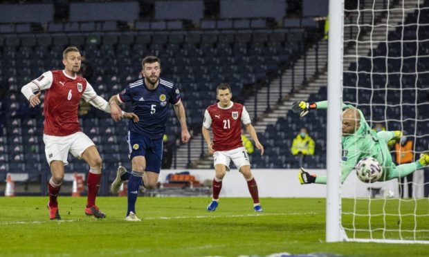 Grant Hanley bags the first Scotland equaliser