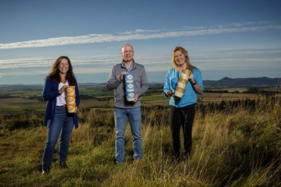 Karin, Mac and Kirstin Mackie from Mackie's of Scotland