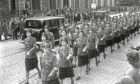 1941: Pictured are the Auxiliary Territorial Service on march. Picture taken in 1941.