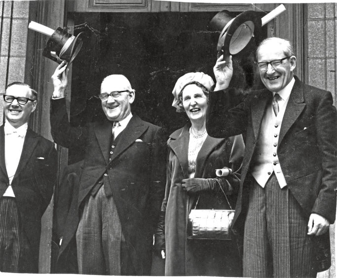 1966: Professor Sir Dugald Baird and his wife, Lady May, made history in 1966 when they became the first husband and wife to be made Freemen of Aberdeen.