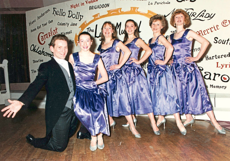 1992: Alan Mann and Jillian Thomson with Lyric dancers rehearse for the society's production of High Society to be staged at Aberdeen's HM Theatre from October 13 to 17.