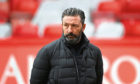 Aberdeen manager Derek McInnes ahead of kick off against Hamilton.