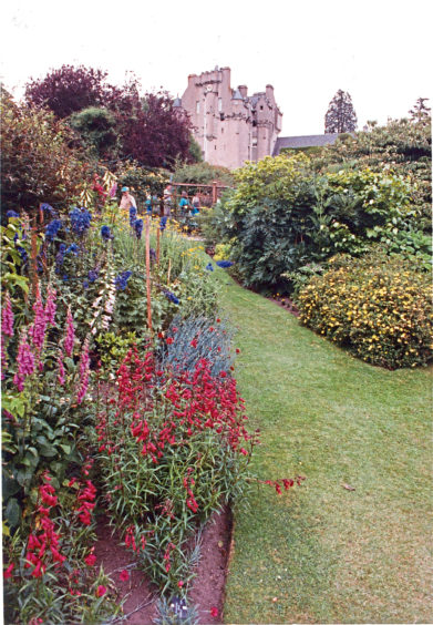 1995: Crathes Castle and gardens.