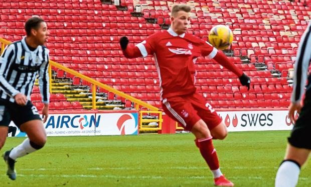 Aberdeen loan forward Florian Kamberi.