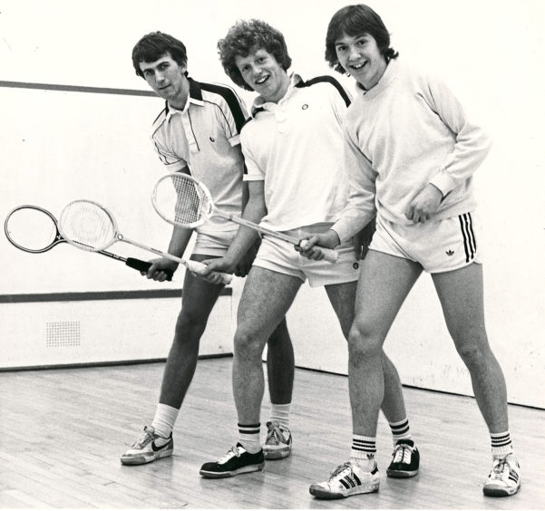 1981: The three talented teenagers who could put Aberdeen on the map in Scottish squash - left to right Alan Nicoll, John Morrison and Steve Cuthill.