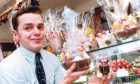 1992 - Foreign Eggs: Mike Wood with just some of the chocolate Easter Eggs for sale at West End Chocolates, Thistle Street, Aberdeen.  Aberdeens high-flyers are shelling out on foreign Easter treats for their loved ones. City sweet shops say customers are dipping deep into their pockets for chocolate eggs imported from America, France, Belgium and Switzerland.  Our sales have been very good over the last week, said Mike Wood of West End Chocolates in Thistle Street. The eggs are proving very popular with young people with a bit of cash to spare.