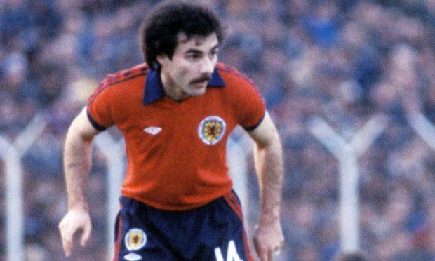 Scotland's Willie Miller in action against Israel in Tel Aviv in 1981.