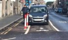 One of the images taken by members of Aberdeen Cycle Forum with vehicles parked in cycle lanes.