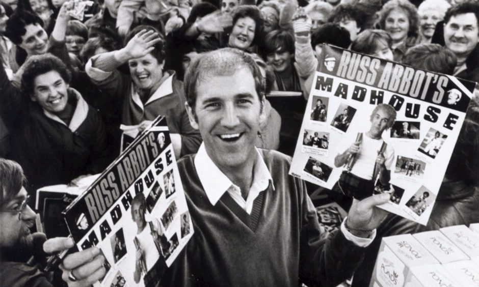 Comedian Russ Abbot was the Wonder of Woolies in  1983 as scores of his fans turned up at the Union Street as he signed copies of his new album. Russ was touring Scotland for the first time and played the Aberdeen Capitol and the Eden Court, Inverness.
