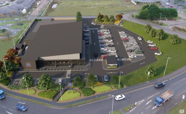 An artist impression of the new supermarket.