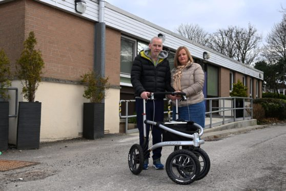Laura Walker and her husband Gary use the VSA's Airyhall centre