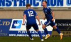 Jordon Brown, right, is staying with Peterhead.