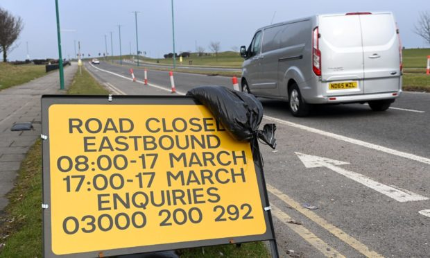A section of the Beach Boulevard will be closed temporarily to remove Spaces for People measures.