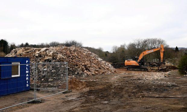 The former Bucksburn primary school has been demolished.