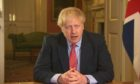 Boris Johnson announcing lockdown in March 2020.