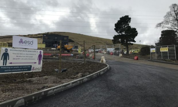 The site of the new works near Huntly.