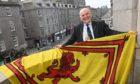 Barney Crockett has flown the Royal Standard from the Town House.