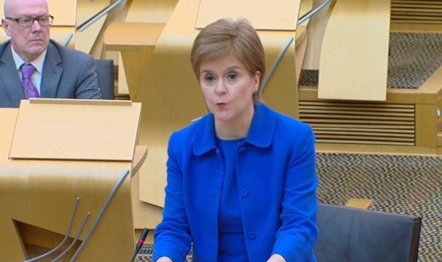 Nicola Sturgeon updated Holyrood on plans to ease lockdown today