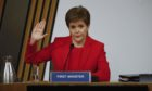 First Minister Nicola Sturgeon MSP appears before the Scottish Parliament Committee on the Scottish Government Handling of Harassment Complaints today 03/03/2021. The committee met in Committee room 2 at the Scottish Parliament, Edinburgh.  Pic - Andrew Cowan/Scottish Parliament. 03 March 2021.