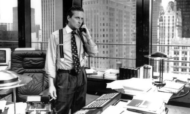 Michael Douglas as Gordon Gekko in the Oliver Stone film Wall Street.