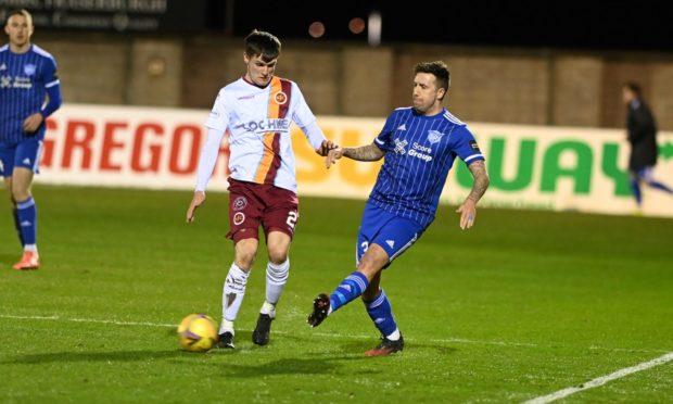 Ryan Conroy in action for Peterhead against Stenhousemuir.