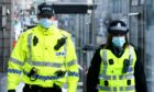 Police officers in Aberdeen.