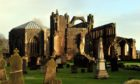 Locator of Elgin Cathedral.  Picture by Gordon Lennox 11/01/2017