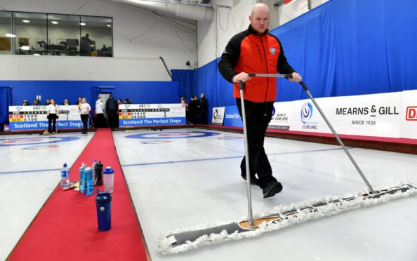 The World Junior Curling Championships were held at Curl Aberdeen in 2018. Picture by Kami Thomson