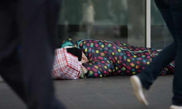 Homeless applications dropped in Aberdeenshire.