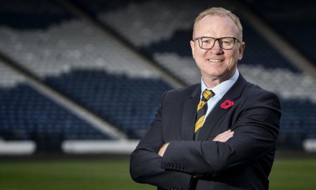 Aberdeen and Scotland legend Alex McLeish at Hampden.