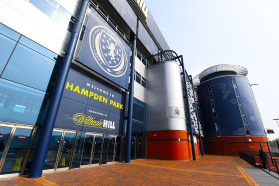 Hampden Park is due to host the Scottish Cup final on May 22.