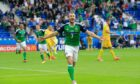 Niall McGinn celebrates scoring for Northern Ireland at the European Championships in 2016