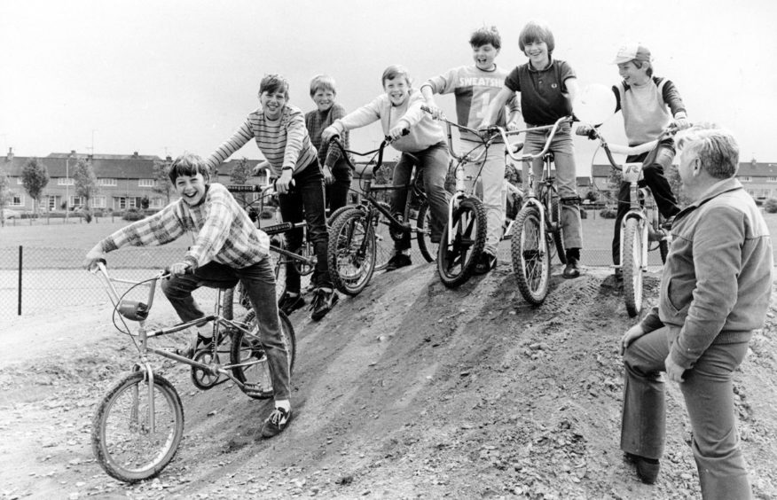 There were smiles all round at the opening of Bucksburn's BMX track in 1985 after an 18-month campaign to see the facility built.