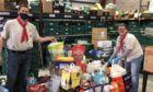 Scouts donating to foodbank