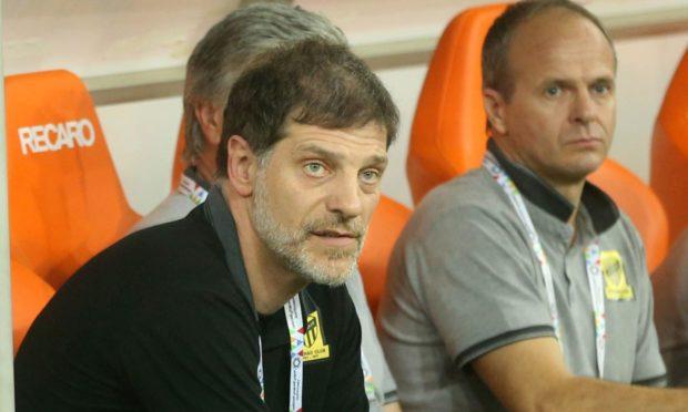 Marijo Tot, right, while working alongside Al-Ittihad head coach Slaven Bilic in Saudi Arabia.