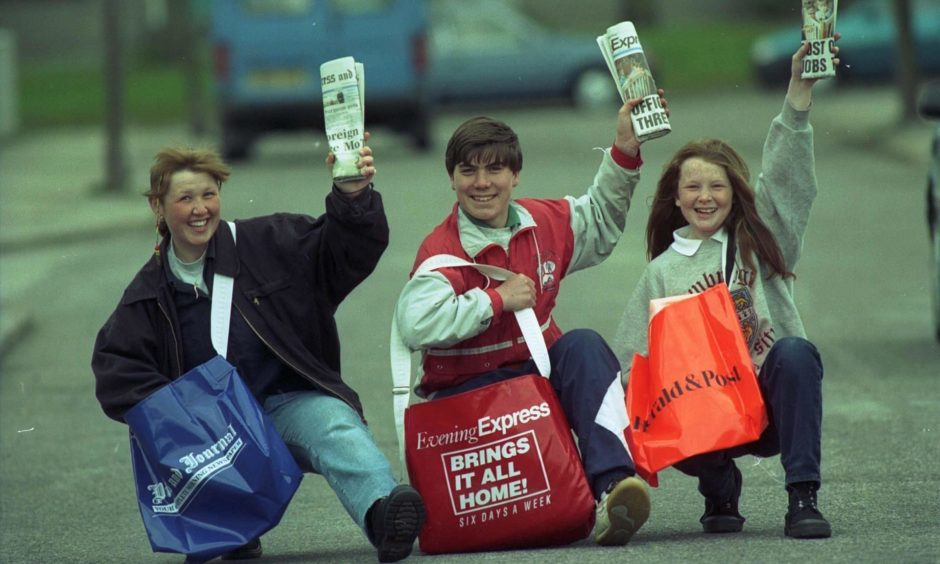 Newsboys and girls have been delivering the P&J and Evening Express across the north-east for decades.