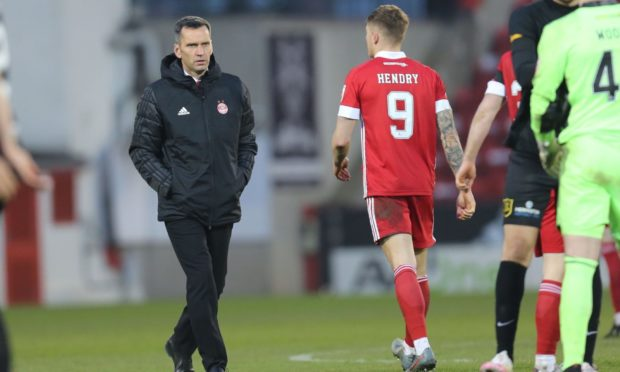 Aberdeen manager Stephen Glass at full-time.