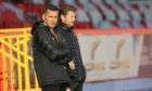Aberdeen manager Stephen Glass with assistant Allan Russell.