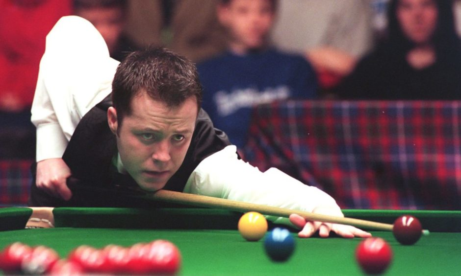 John Higgins was among the players who took to the green baize when Aberdeen hosted some of the biggest stars in the game.